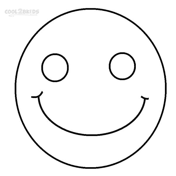 600x600 Face Coloring Pages Printable  Printable Blank Face