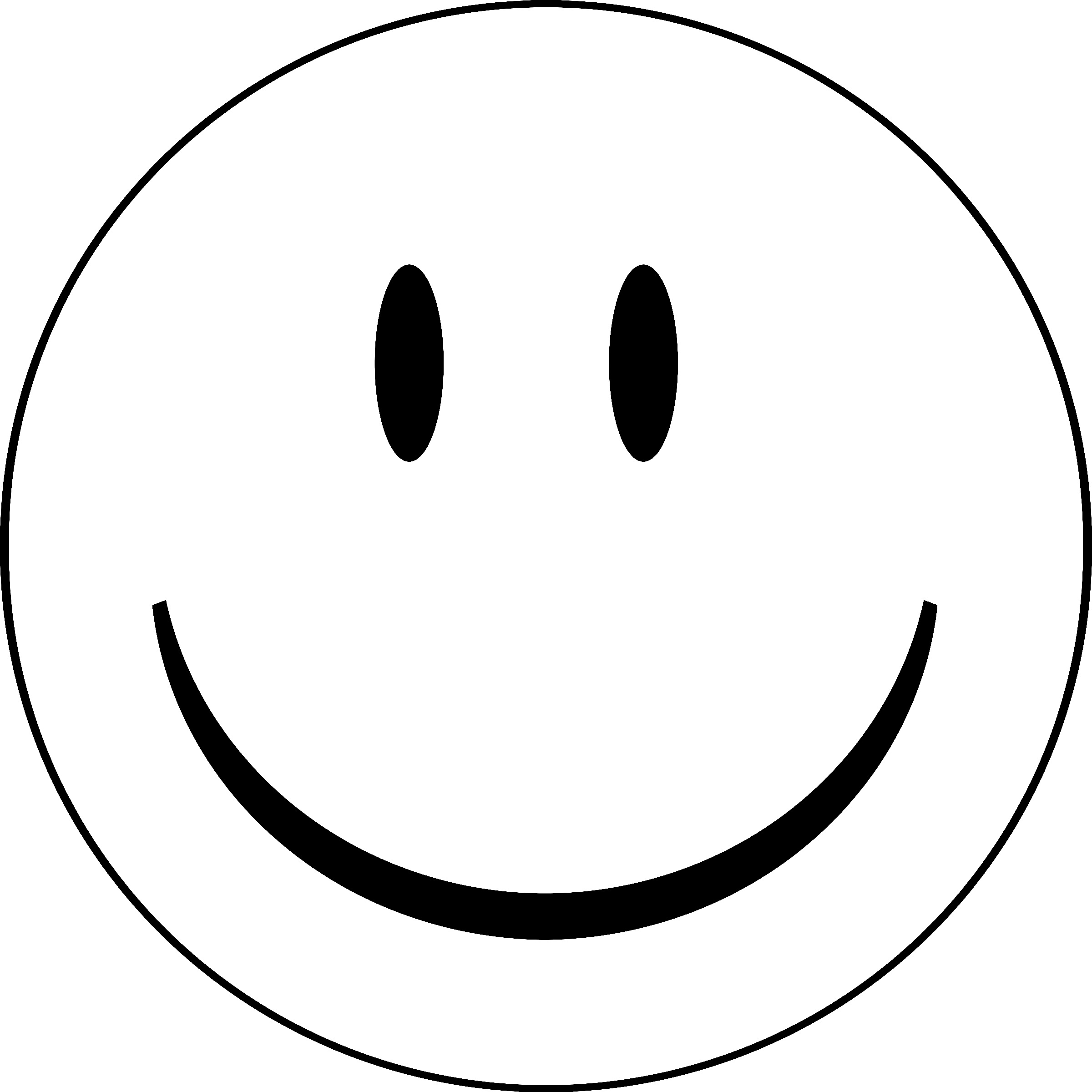 2400x2400 Outline Smiling Face Clipart