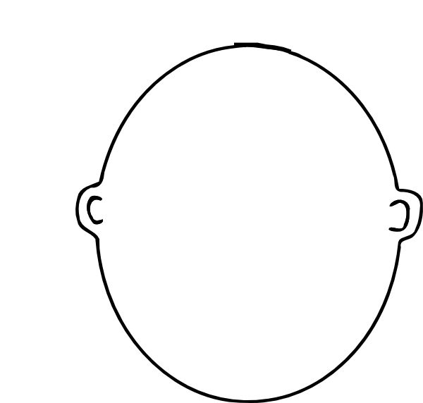 600x572 Blank Face Free Download Clip Art Free Clip Art On Clipart Inside Printable Blank Face