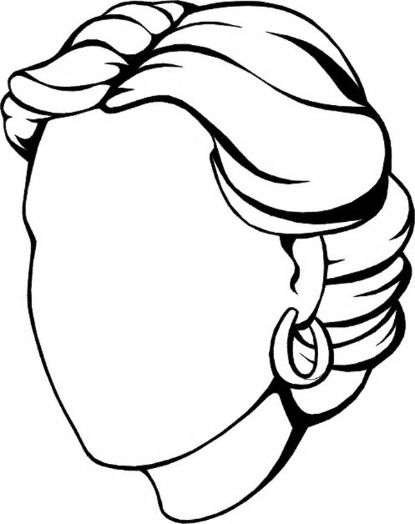 600x758 Blank Face Coloring Page