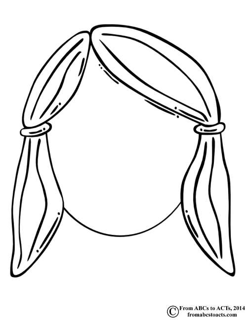 500x647 Blank Face Coloring Page