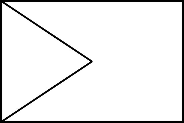 640x428 Flag, Outline, Triangle, Type, Flags, Rectangle, Blank
