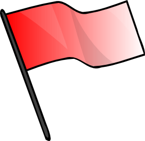 297x287 Red Flag Clip Art