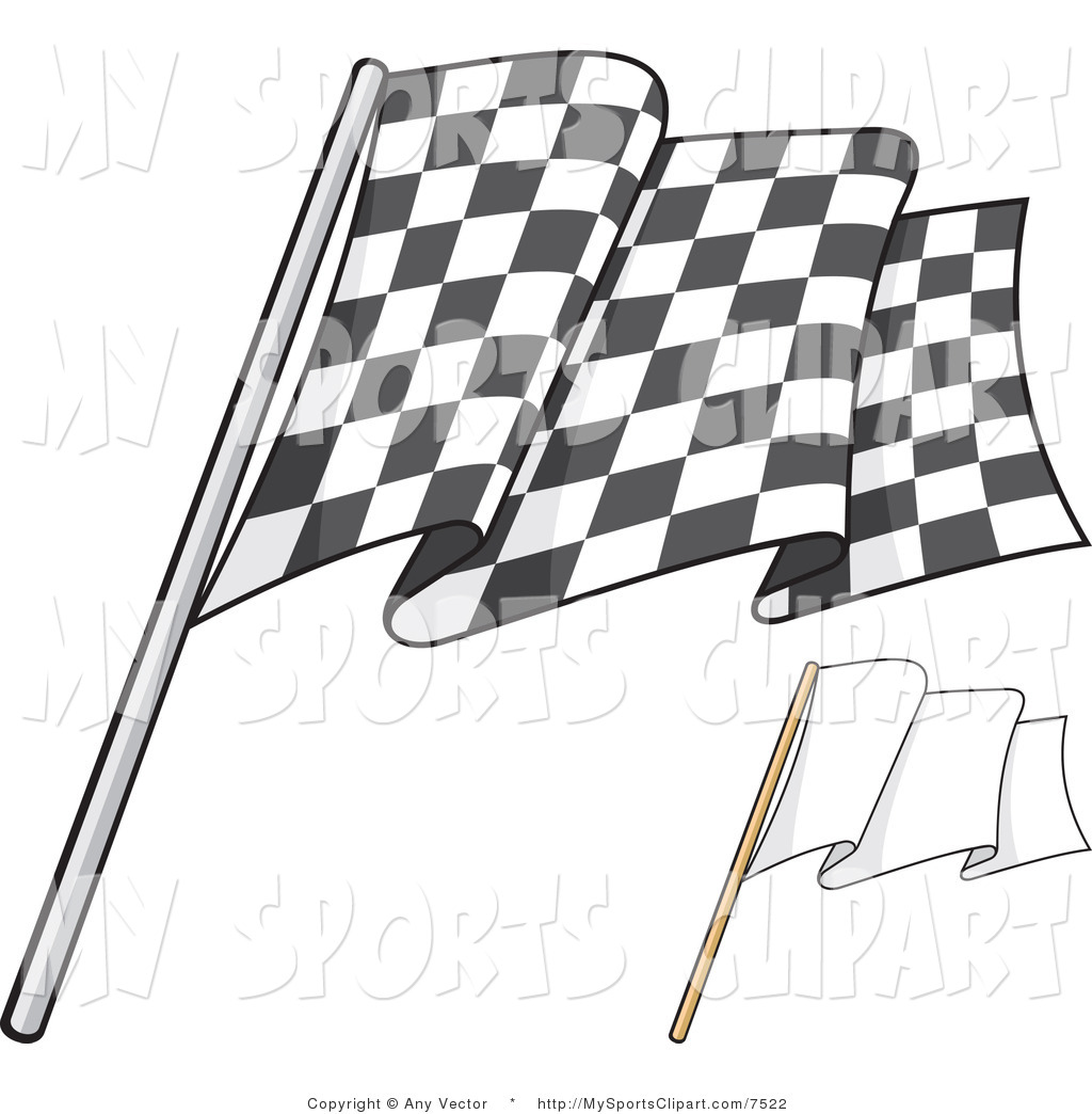 1024x1044 Sports Clip Art Of A Checkered Flag And Blank Flag By Any Vector