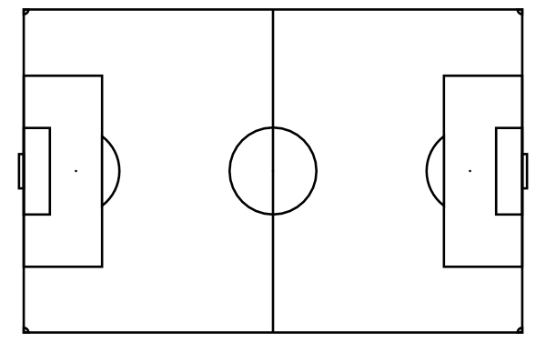 600x376 Blank Football Pitch Outline Clipart Panda