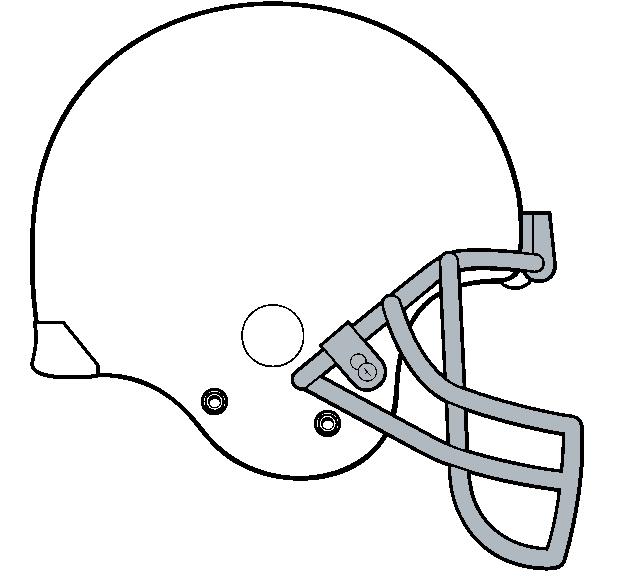 626x580 Blank Football Helmet Clipart