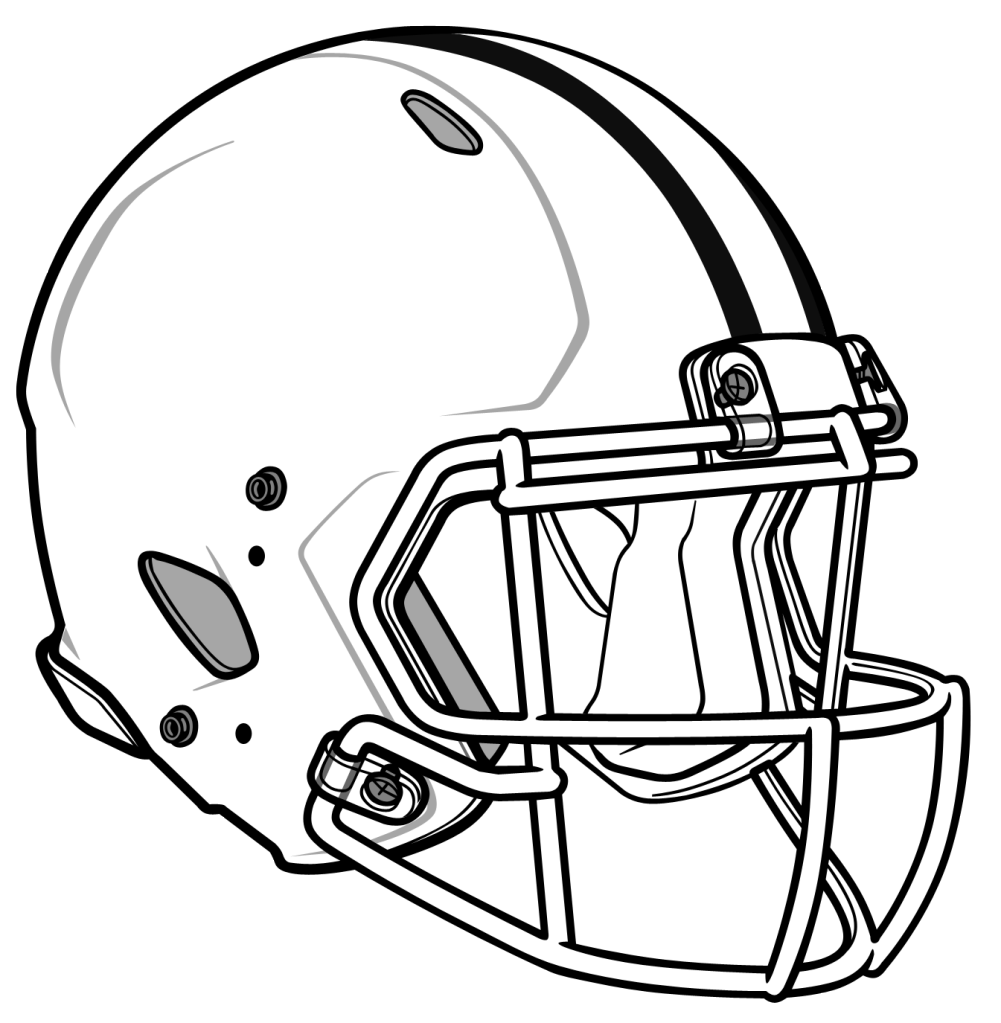 1001x1023 Blank Football Helmet Clipart