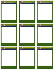 184x239 Football Card Templates
