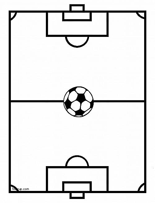 blank football field template