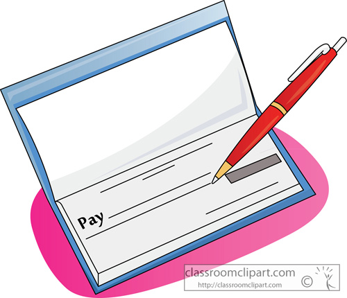 500x430 Blank Check Clipart