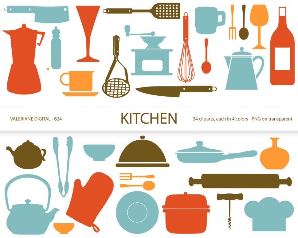 970x776 Kitchen Appealing Kitchen Utensils Border Clipart 88967754 Blank