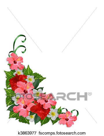 360x470 Stock Illustration of Luau border invitation k2568337