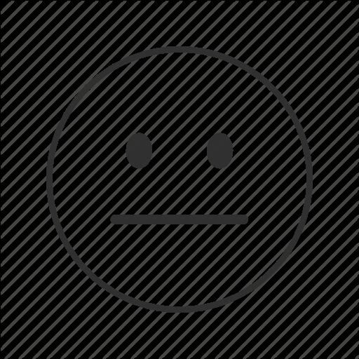 512x512 Blank Face, Emoji, Emotionless Face, Meh Face, Neutral, Neutral