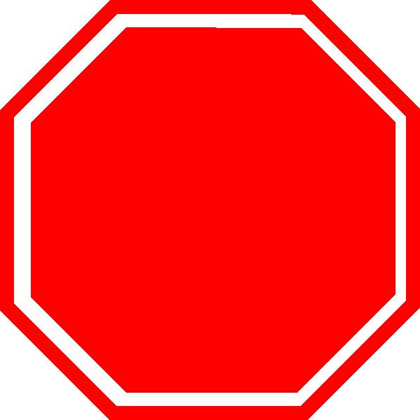 600x600 Stop Clip Art