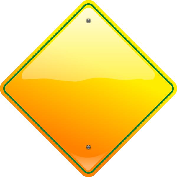 600x600 Stop Sign Yellow Clip Art