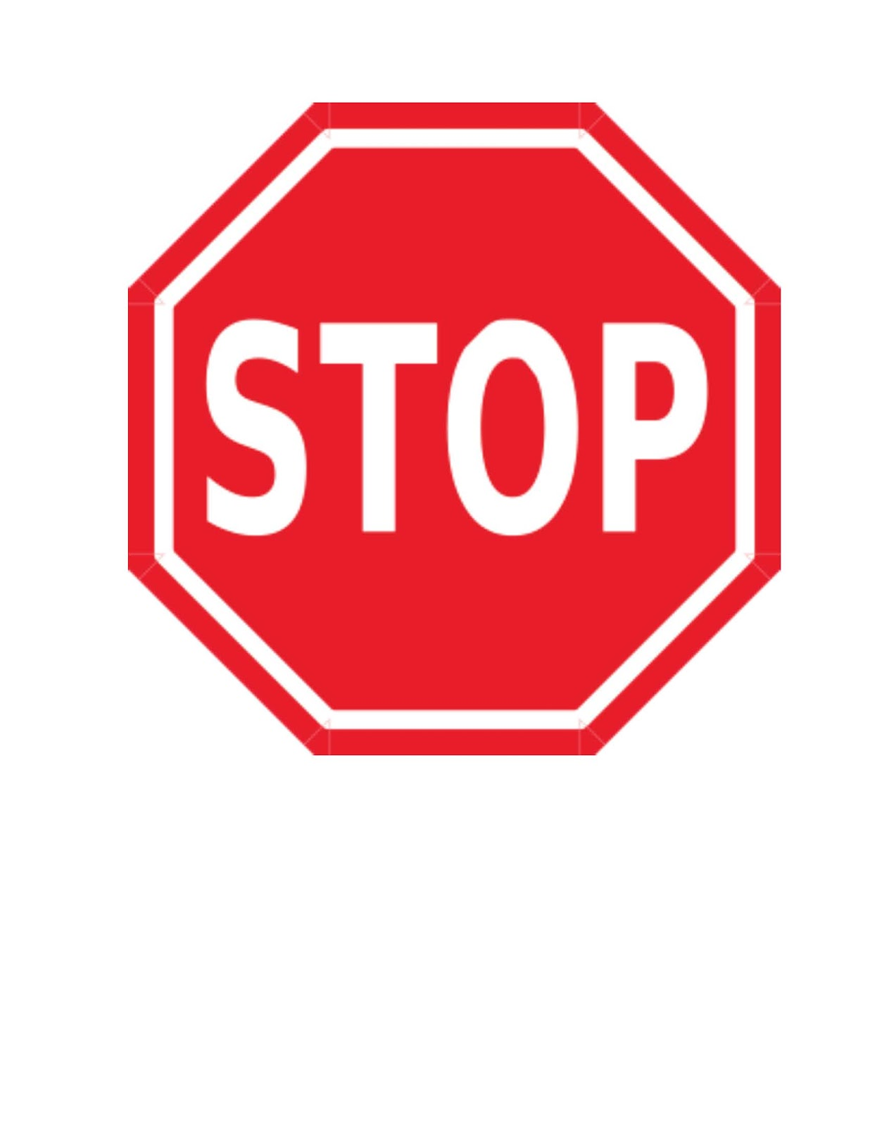 1236x1600 Stop Sign Image Free Download Clip Art