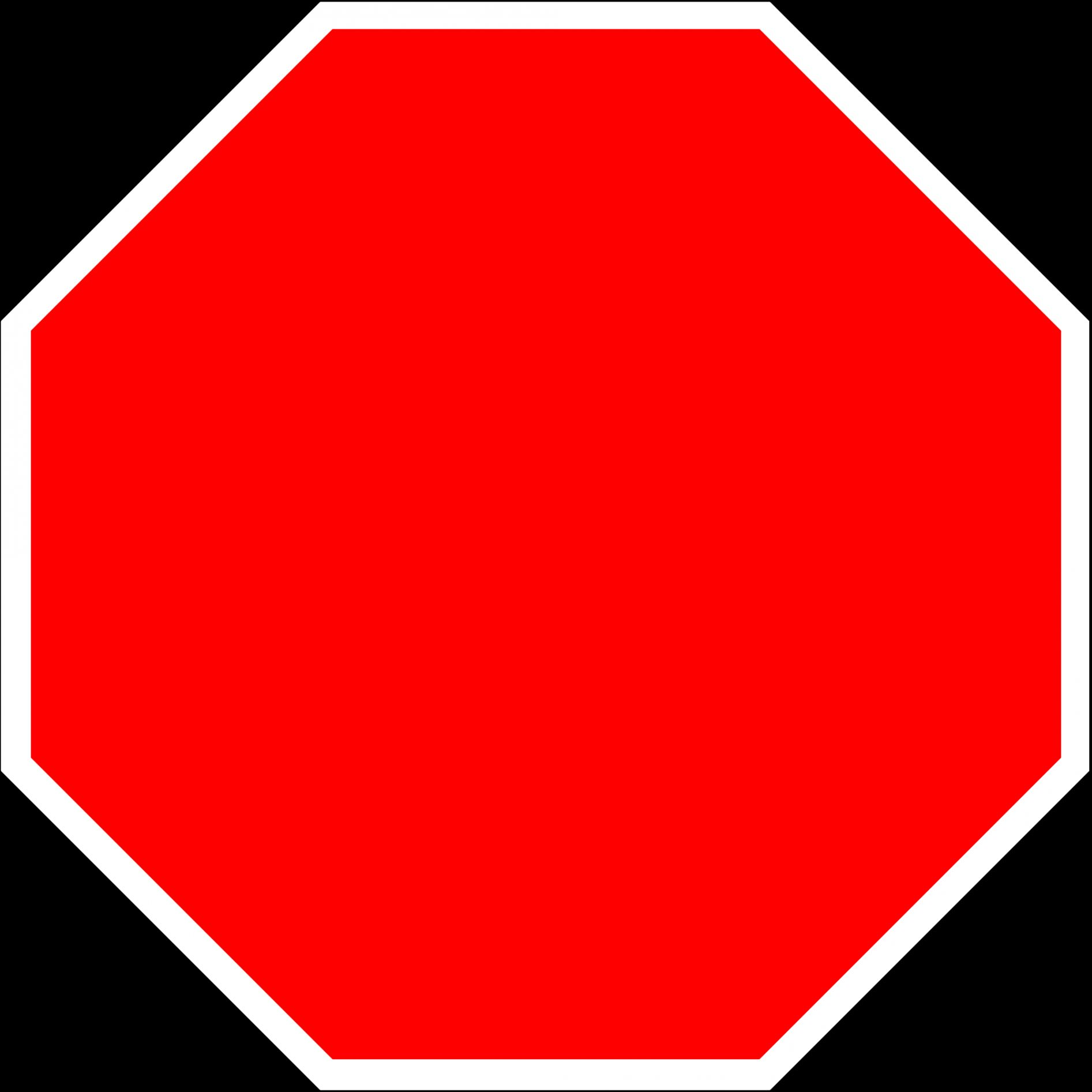 1893x1893 Blank Stop Sign Blank Template