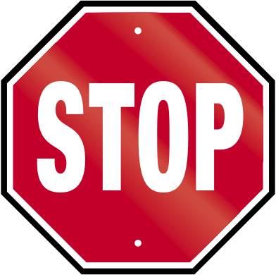 392x390 Free Stop Sign Clipart