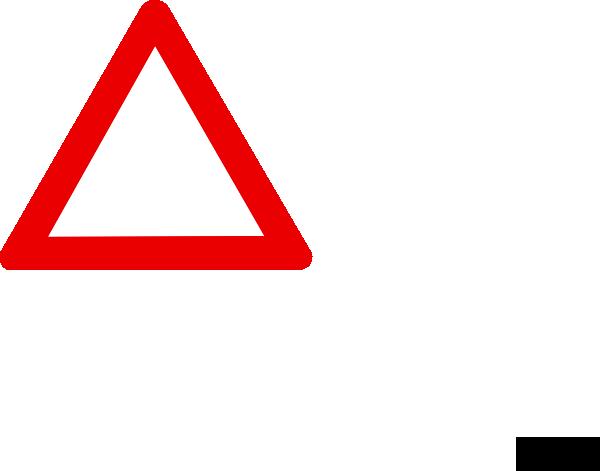 600x471 Blank Warning Sign Clip Art