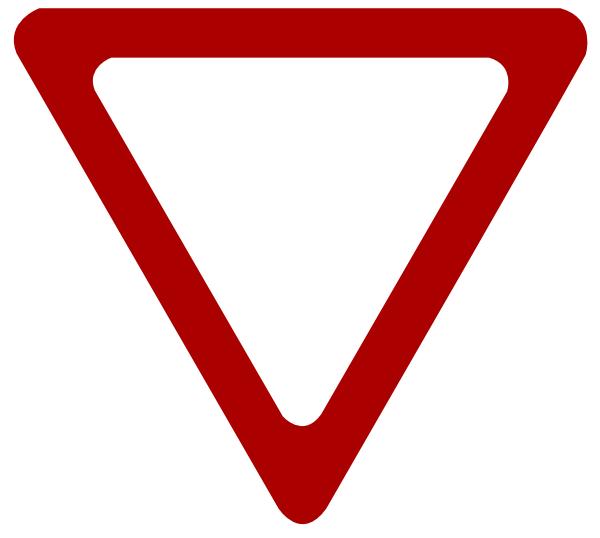 600x538 Blank Yield Sign Clip Art
