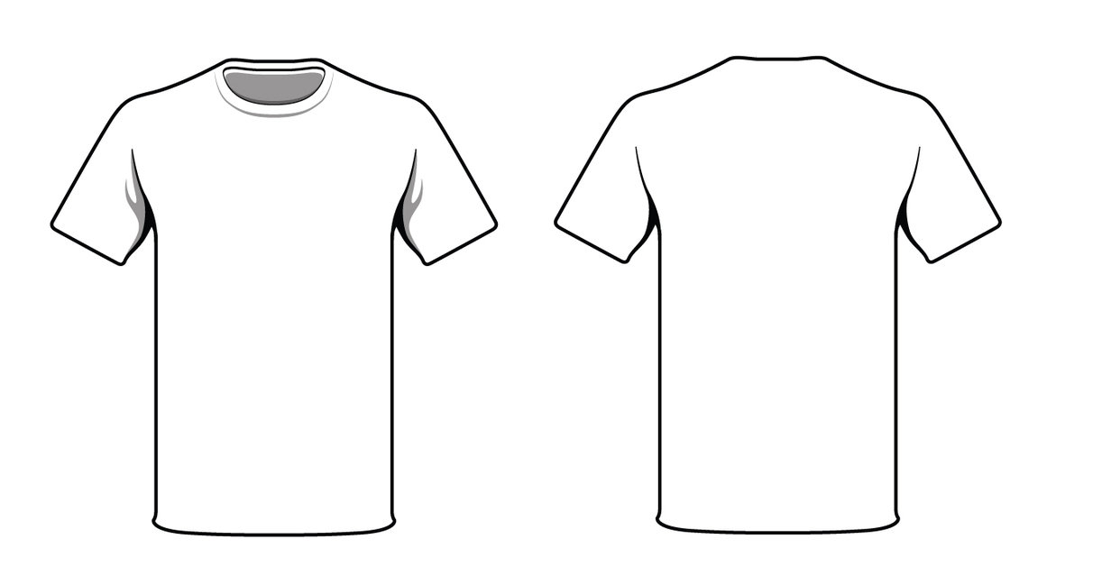 1232x649 blank tshirt template - T Shirt Coloring Page