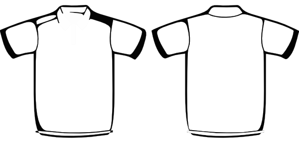 600x304 free polo shirt template clipart illustration clip art - T Shirt Coloring Page
