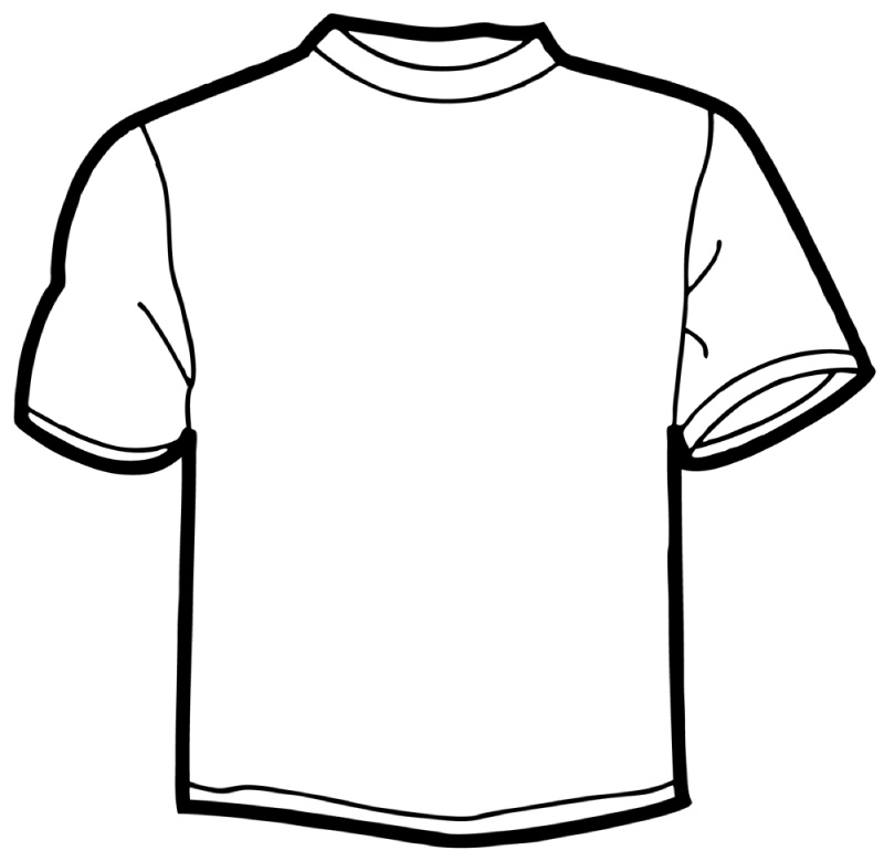 coloring pages of a shirt | Blank T Shirt Outline | Free download best Blank T Shirt ...