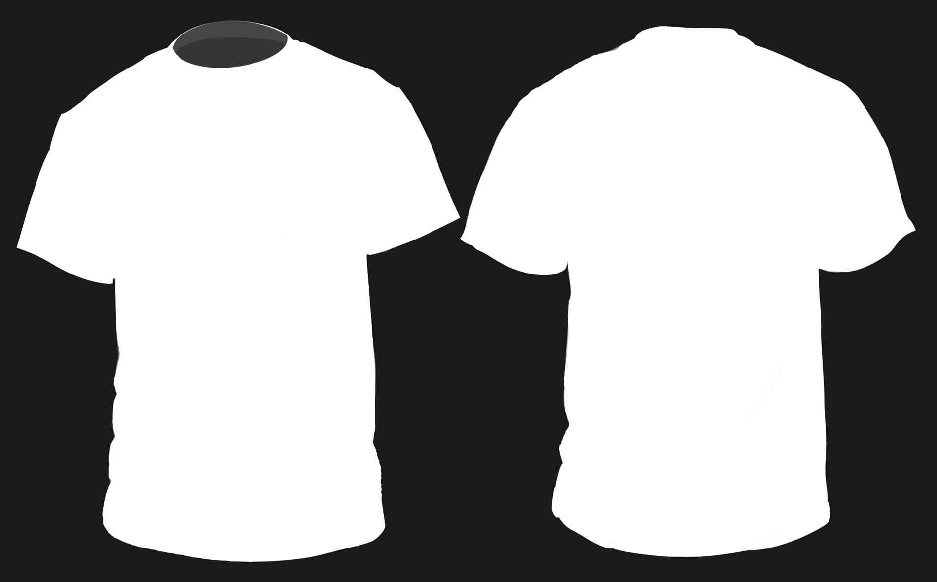 Blank Tshirt Template For Photoshop Free Download