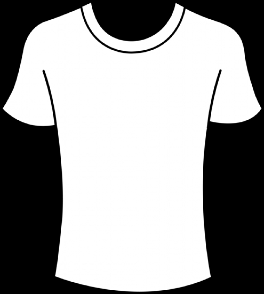921x1024 Blank T Shirt Outline Clipartsco For Blank T Shirt Clipart Blank T