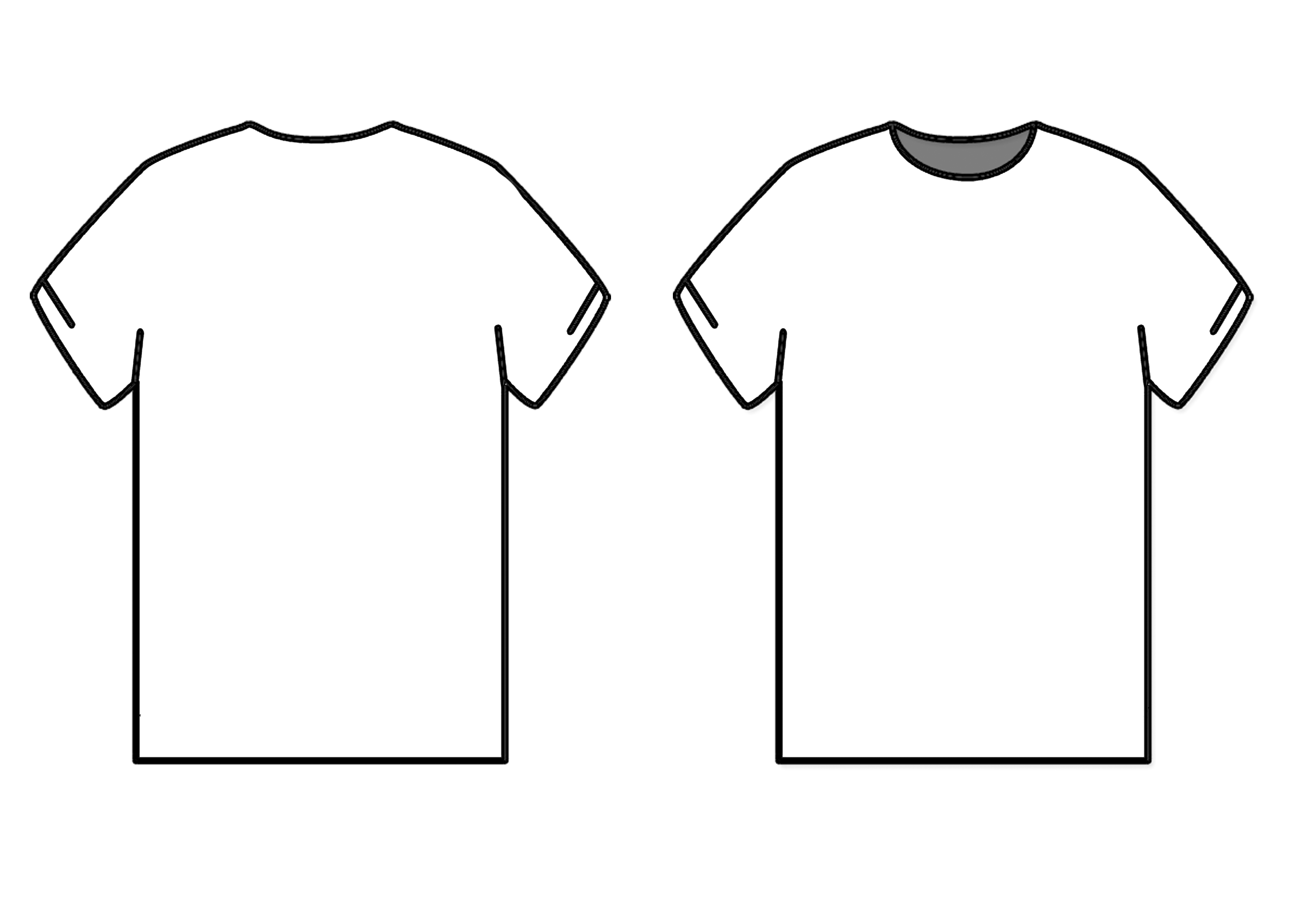 Blank T Shirt Outline Free Download Best Blank T Shirt Outline On