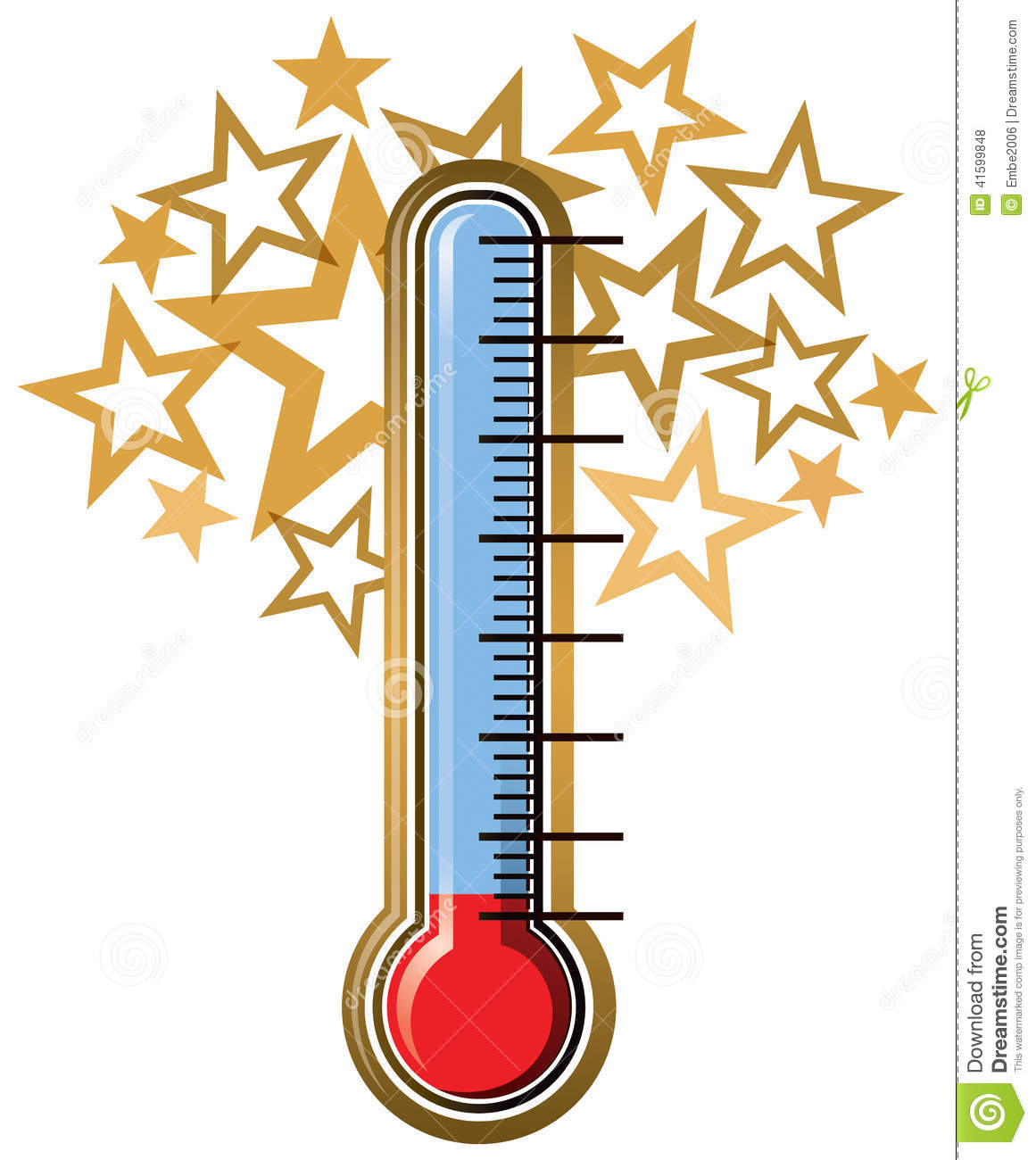 Blank Thermometer