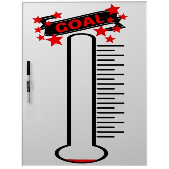540x540 Fundraising Goal Thermometer Blank Goal Dry Erase Board