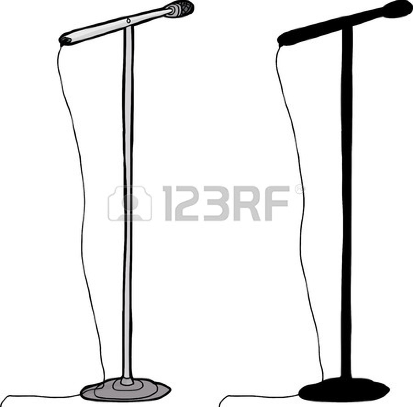1350x1329 Microphone Stand Clipart
