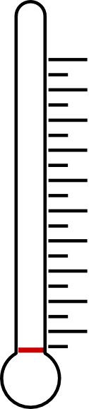 126x578 Blank Fundraising Thermometer Clipart
