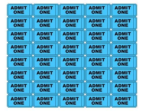 Admit One Ticket Template | Blank Ticket Image Free Download Best Blank Ticket Image On