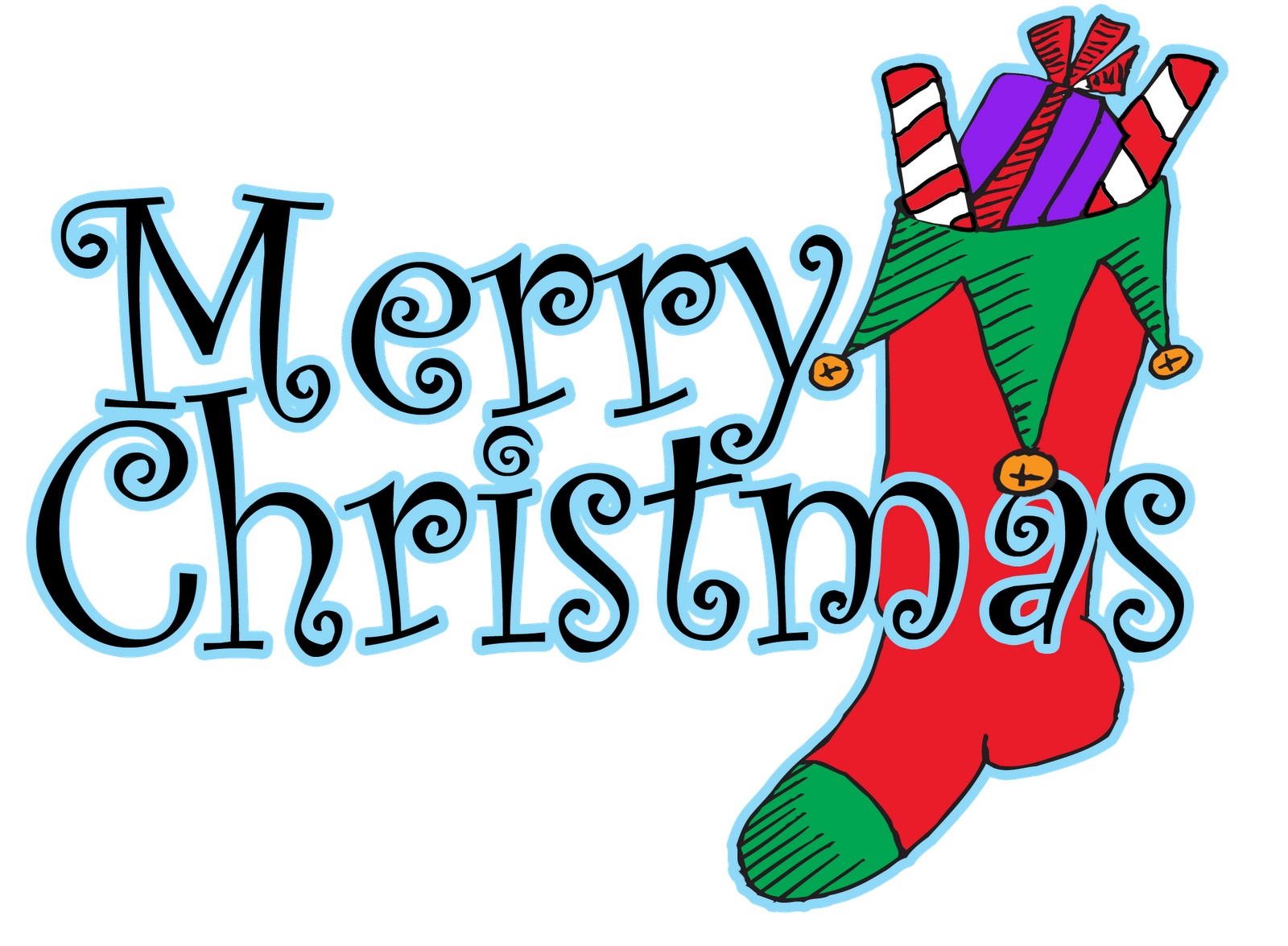 1600x1175 Merry Christmas Clipart Words