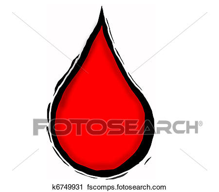 450x394 Clipart Of Blood Drop K6749931