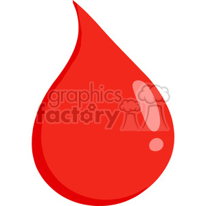 300x300 Royalty Free Cartoon Drop Of Blood 384281 Vector Clip Art Image