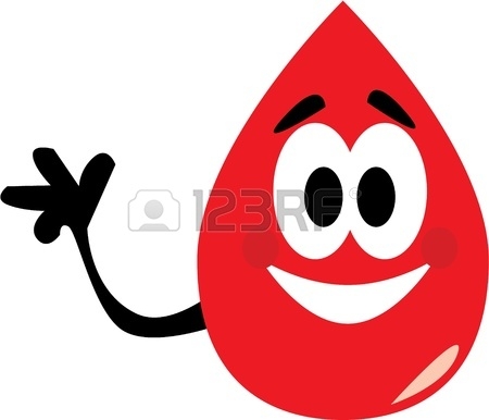 450x386 Vector Cartoon Clip Art Of A Blood Drop Waving To Where To Donate