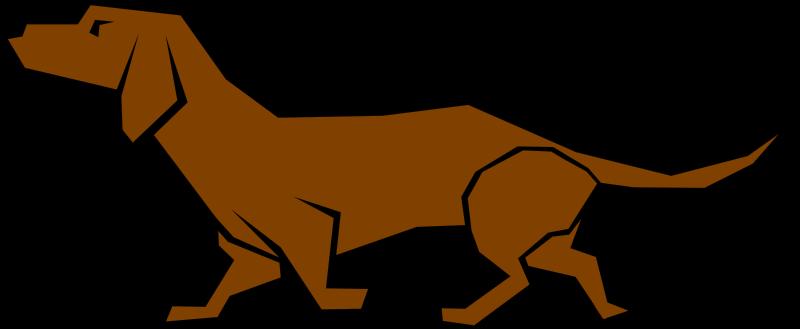 800x329 Bloodhound Clipart Brown