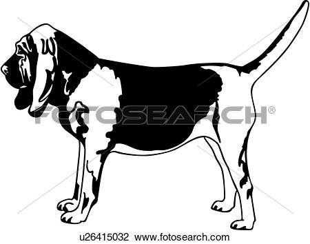 450x354 Bloodhound Clipart Coon Dog