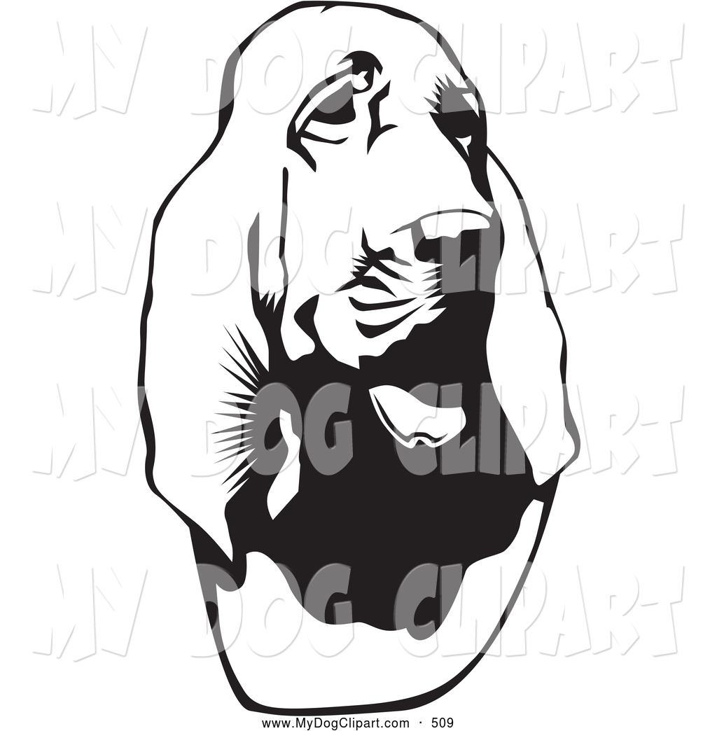 1024x1044 Clip Art Of A Cute Bloodhound, Or St. Hubert Hound, Looking