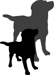 216x296 A Dog And His Shadow Clip Art