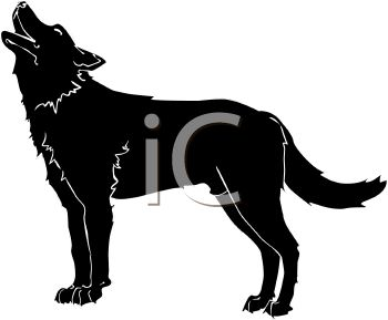 350x289 Howling Wolf Silhouette Clip Art