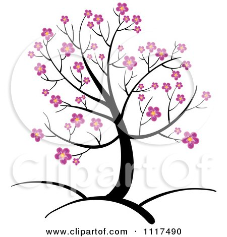 450x470 Pink Blossoms Spring Tree Clip Art Cliparts