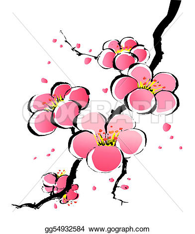 392x470 Top 79 Sakura Flower Clipart