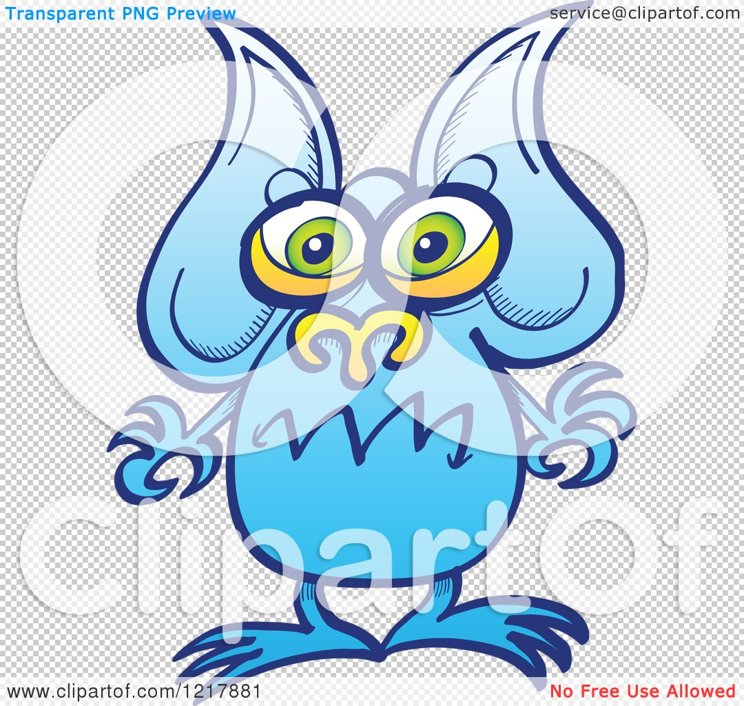 1080x1024 Clipart Of A Worried Blue Alien