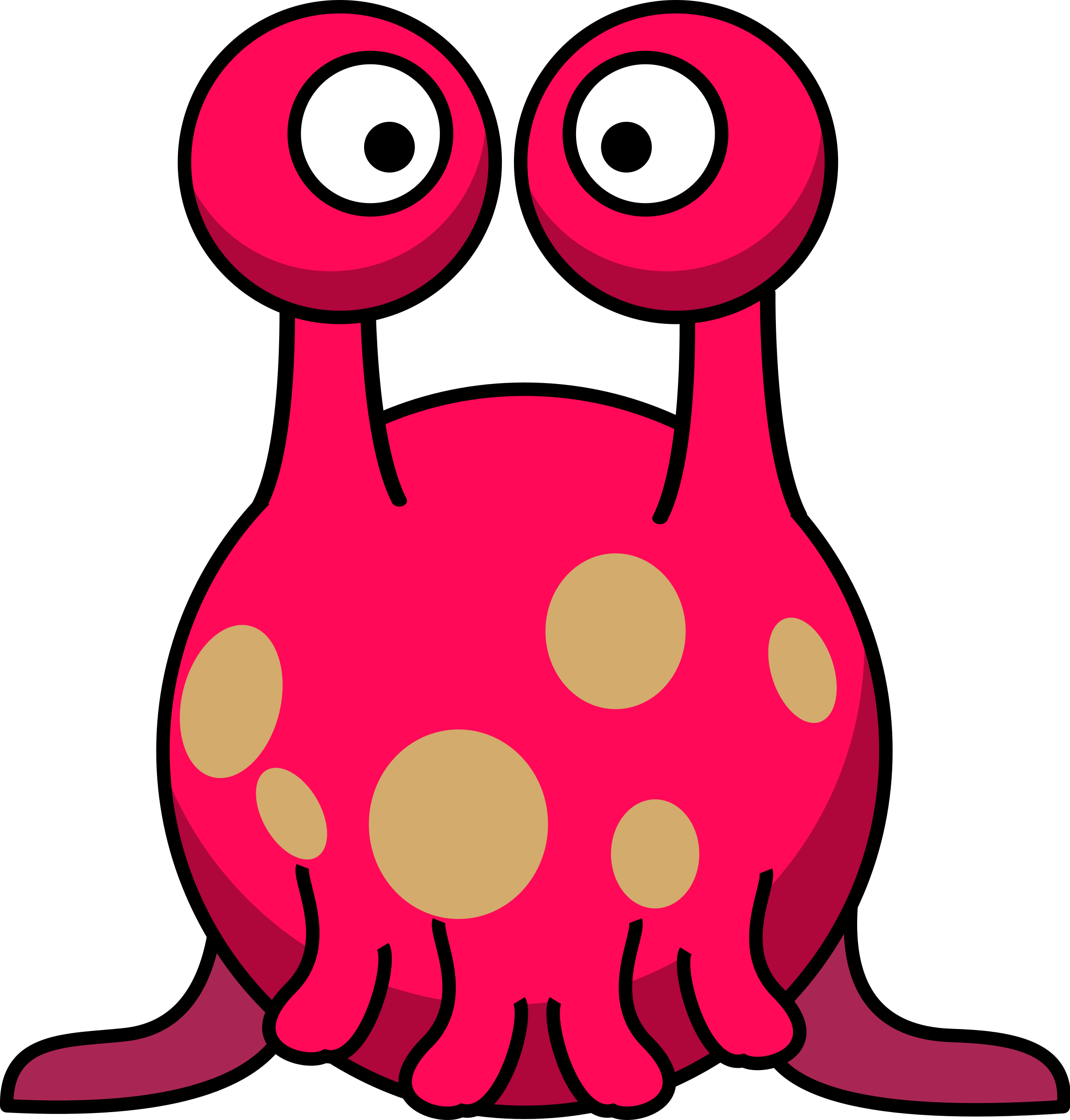 2292x2400 Clipart Silly Alien In The Style Of Lemmling