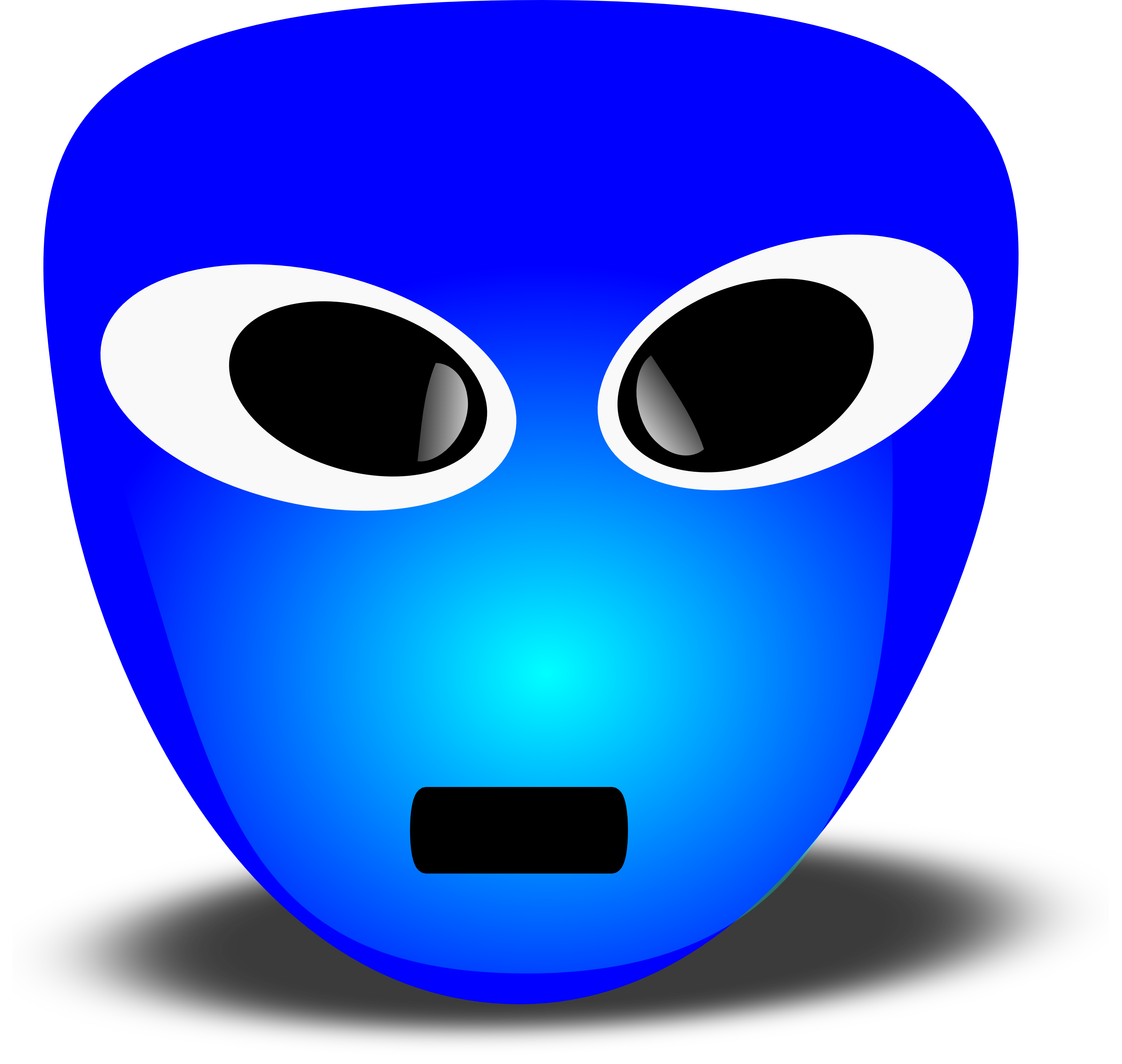 3200x3034 Free 3d Extra Terrestrial Smiley Face Clipart Illustration