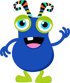 236x278 Your Free Art Cute Blue, Purple And Green Cartoon Alien Monsters